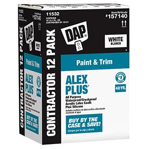 Dap ALEX PLUS Acrylic Latex Caulk Plus Silicone White