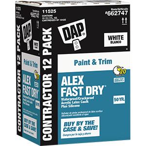 Alex Fast Dry White Caulk 10.1 OZ Cartridge