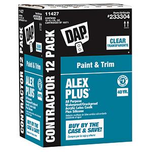 Alex Plus Clear Latex Caulk 10.1 OZ Cartridge
