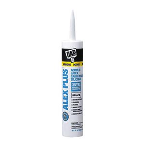 Dap ALEX PLUS Acrylic Latex Caulk Plus Silicone Almond