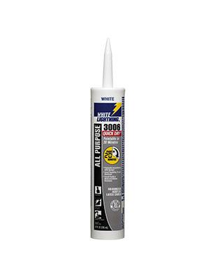 White Lightning 3006 Quick Dry All-Purpose Adhesive Caulk