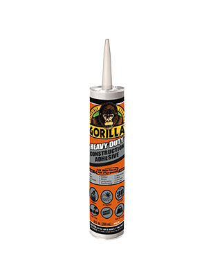 Gorilla White Multi-Purpose Construction Adhesive 9oz