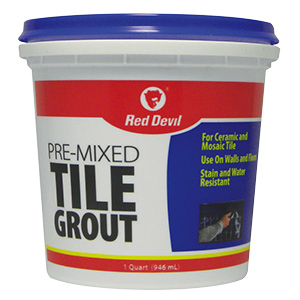 Red Devil White Pre-Mixed Tile Grout Quart