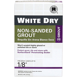 Tile Grout Dry Non-Sanded White 5 lb