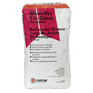 Tile Grout Dry Non-Sanded White 25 lb