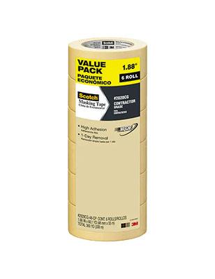Scotch Masking Tape 1.41 x 60 YD Pack of 6