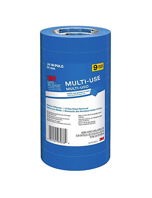 3M Blue Painters Tape .94 X 60 YD Pack of 9