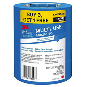 3M Blue Painters Tape 1.41 X 60 YD Pack of 6