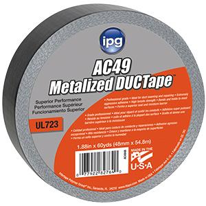 """2"""" Metallic Cloth Tape 60 Yard Roll"""