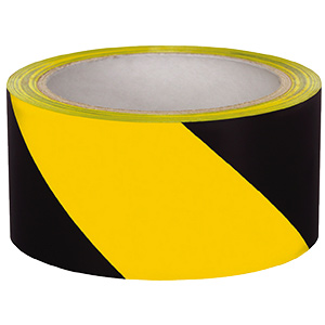 "Safety Tape 3"" x 18 yd Yellow/Black"