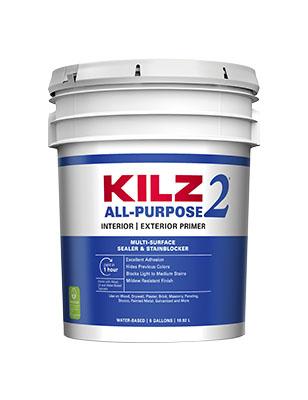 Kilz 2 Water-Based Latex Primer- Sealer, 5 Gallon