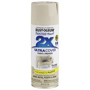 Painter's Touch Ultra 2X Gloss Spray Paint Gloss Almond