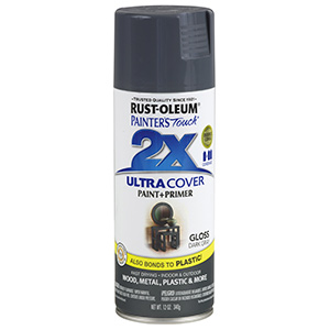 Painter's Touch Ultra 2X Gloss Spray Paint Gloss Dark Gray