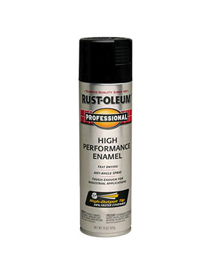 Rustoleum Pro Gloss Black Spray Paint 15 oz