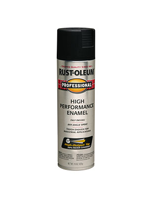 Rustoleum Pro Semi-Gloss Black Spray Paint 15 oz