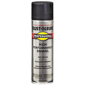 Rustoleum Pro Flat Black Spray Paint 15 oz