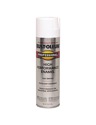 Rustoleum Pro Semi-Gloss White Spray Paint 15 oz