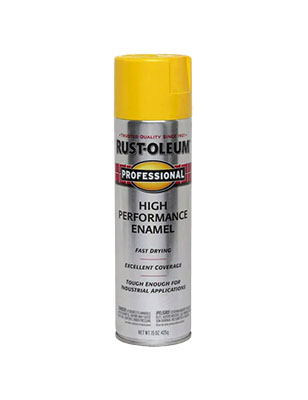 Rustoleum Pro Safety Yellow Spray Paint 15 oz