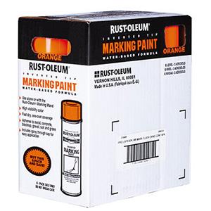 Rustoleum Fluorescent Orange Marking Paint 15 oz case of 6