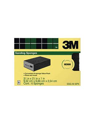 3M Commercial Sanding Sponge 80-Grit 6/PK