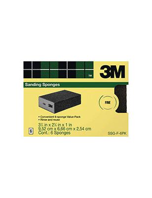 3M Commercial Sanding Sponge 120-Grit 6/PK