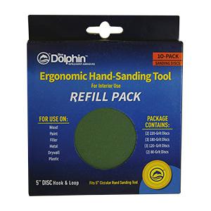 Dolphin Interior Sanding Tool Refill 10/Pk