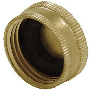 Brass Garden Hose End Cap