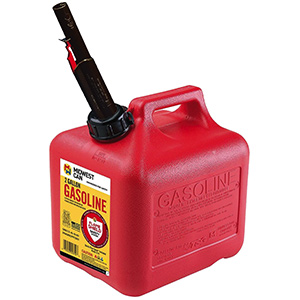 Red Polyethylene Gas Can Auto Shut off 2-Gallons