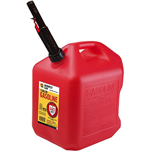 Red Polyethylene Gas Can Auto Shut off 5-Gallons