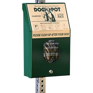 DOGIPOT Header Pak Junior Bag Dispenser Aluminum
