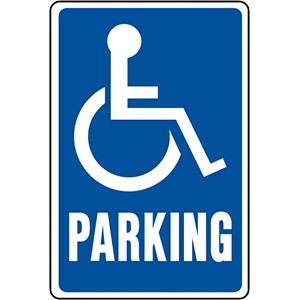"Handicap Sign Aluminum 12"" x 18"""