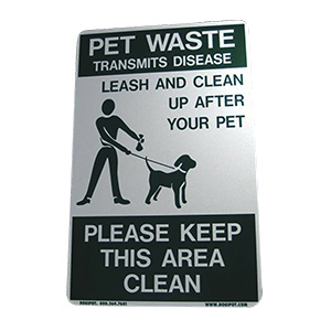 DOGIPOT Pet Leash & Clean-Up Sign