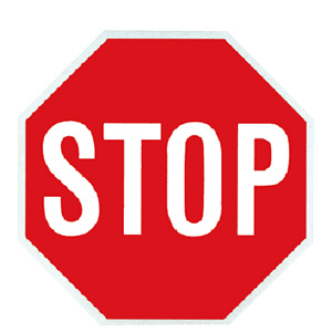 "Metal Stop Sign Aluminum 24"""