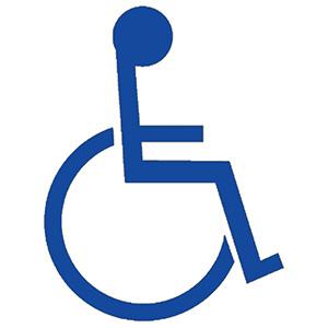 """Handicap Stencil 24"""" x 24"""""""