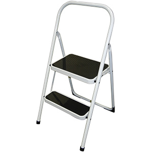 Step Stool Steel High Back