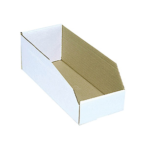 "Cardboard Bin Boxes 4"" x 18"" x 4"""