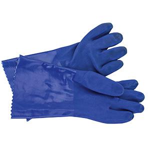 "PVC Gloves Blue 14"" Large"