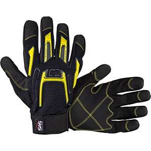 MX Impact Resistant Grip Palm Glove, Large, Pair, 6722-03