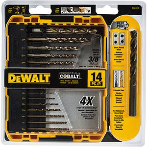 DeWalt 14-Piece Pilot Point Cobalt Drill Bit Set
