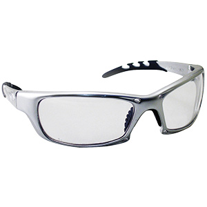GTR Safety Glasses with Silver Frame Clear Lens