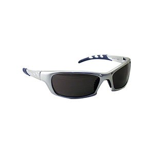 GTR Safety Glasses with Silver Frame Gray Lens