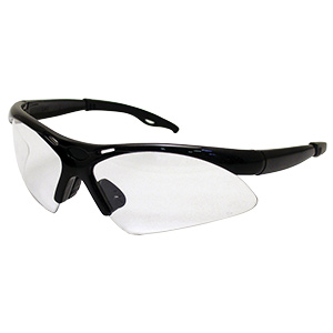 Diamondbacks Safety Glasses with Black Frame Clear Lens