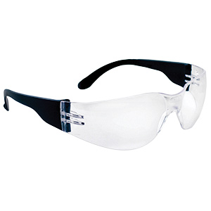 NSX Safety Glasses with Black Frame Clear Lens