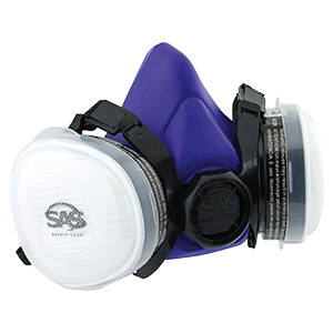 Disposable Dual Respirator with Organic Vapor Cartridge