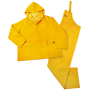 3-Piece Yellow Rain Suit Large