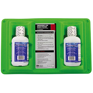 Emergency Eyewash Station Dual Bottle 16 oz Bottles