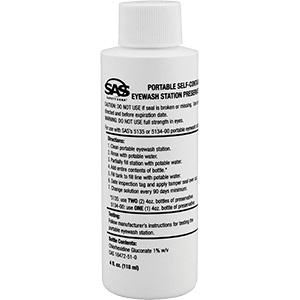 Eyewash Station Water Preservative 4 oz Bottle
