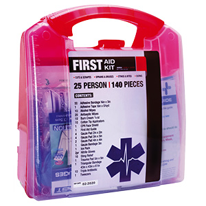First Aid Kit 25-Person 140 Piece