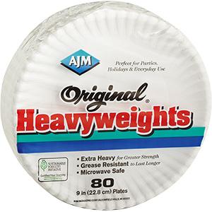 "Paper Plates 9"" Heavyweight"