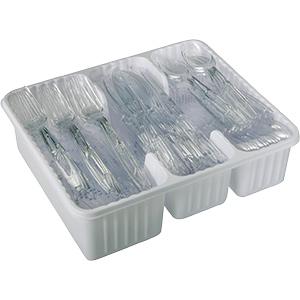 Heavy-Duty Clear Plastic Cutlery Set